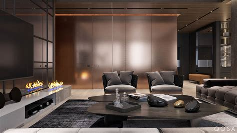 luxury apartment interior design using copper 2 gorgeous