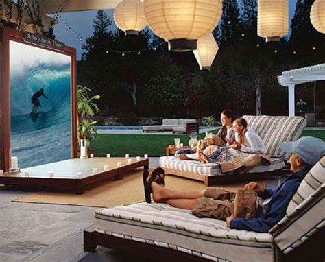 how to make a backyard movie theater outdoor backyard theater guide projector people