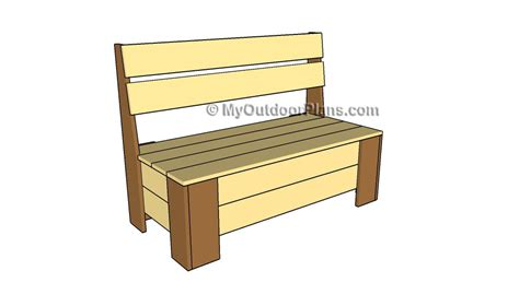 build a storage bench plans to build outdoor storage bench online woodworking