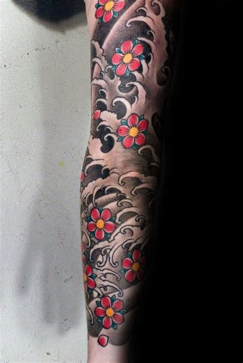 cherry blossom sleeve tattoo designs 100 cherry blossom designs for floral ink ideas