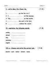 english worksheets grade 4 exam
