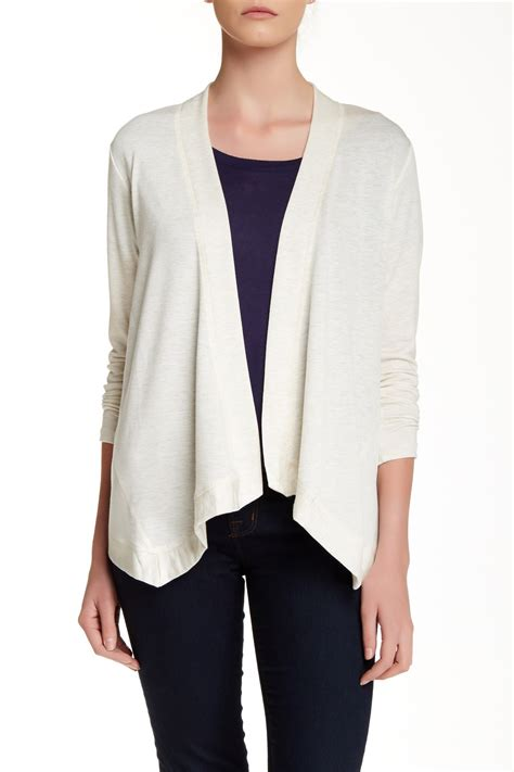 Cardigan Rabbani Lyst Bobeau Drapey Cardigan In White