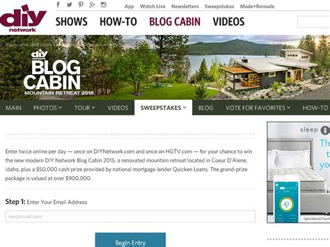 Blogcabin Sweepstakes - blog cabin sweepstakes entry autos post
