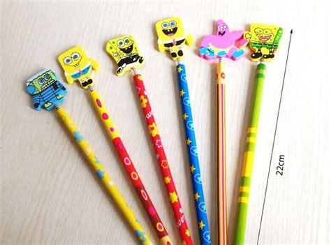 Pensil Susun Stationery Alat Tulis Pencil Hadiah mix6pcs lot kartun orang kuning kreatif kayu pensil mahasiswa anak alat tulis pensil hadiah