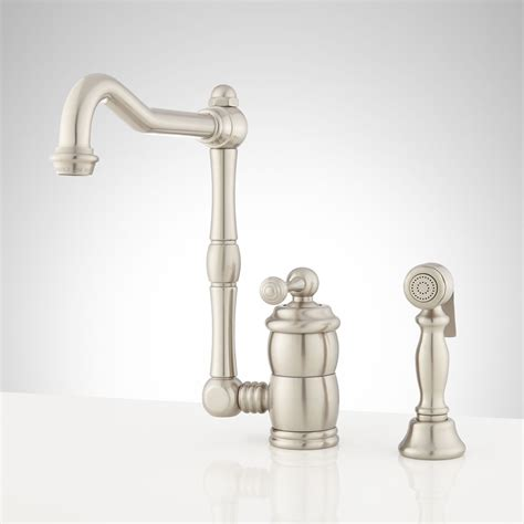 kitchen faucet one hole signature hardware mulder single hole kitchen faucet with