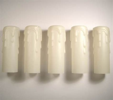 Chandelier Plastic Candle Covers Chandelier Plastic Candle Covers One Chandelier Candle Cover White Plastic With Gold Drips