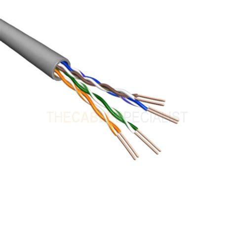 Kabel Data Utp Cat 6 cat6 u utp cable stranded awg24 pvc grey 500m