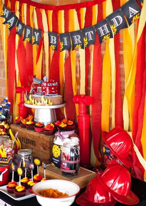 fireman birthday party fire fighter party ideas fireman birthday firefighter birthday