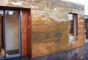 Copper Wall Copper Walls Interlocking Panel Is A Contemporary