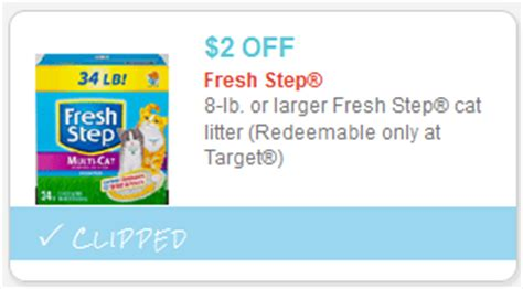 Printable Coupons For Cat Food And Litter | fresh step cat litter coupon target