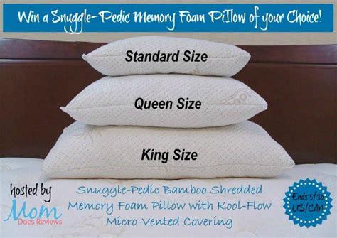 snuggle pedic bamboo shredded memory foam pillow giveaway