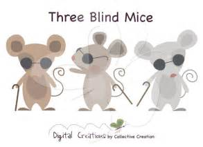 The 3 Blind Mice Three Blind Mice Digital Clip Art Clipart By