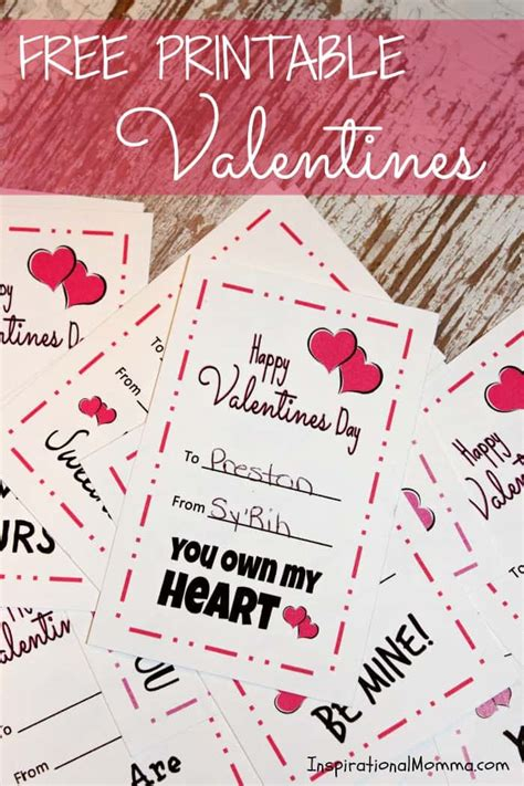 printable valentines inspirational momma