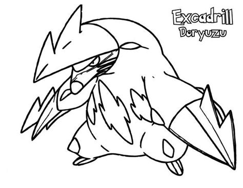 pokemon excadrill coloring pages excadrill doryuzu pokemon ready to fight coloring pages