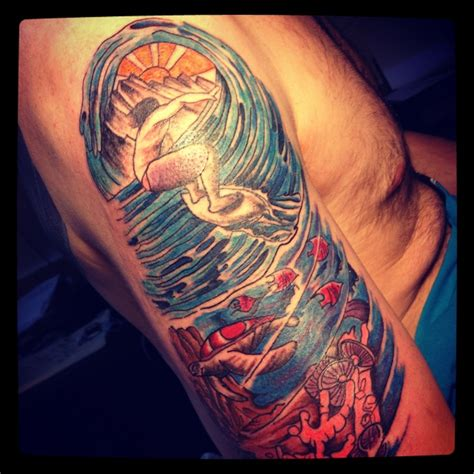 surfing tattoo designs surf tattoos