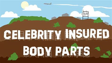 8 Most Insanely Insured Parts by The Most Insured Parts Infographic