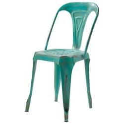 chaise indus en m 233 tal verte multipl s maisons du monde
