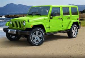 lime green jeep wrangler furiously stunning
