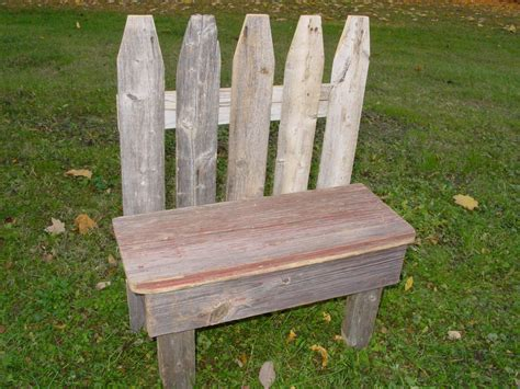 garden barn wood picket fence small bench