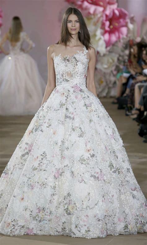 imagenes de vestidos de novia con olanes tendencias 2017 vestidos de novia con colores y flores