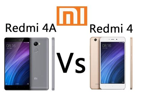 redmi 4a comparison xiaomi redmi 4 vs xiaomi redmi 4a what is