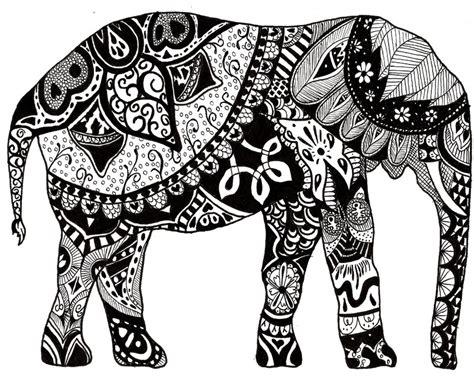 zen coloring pages elephant coloriage adulte inde elephant 9