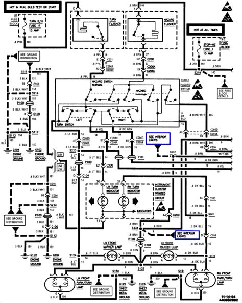 silverado light wiring schematic 1994 chevy truck
