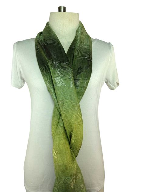 a green scarf silk order direct from thailand
