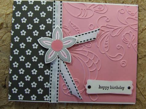 Where Can I Sell My Handmade Cards - handmade birthday card embossed using stin up flower
