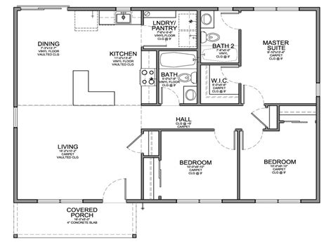 3 bedroom house floor plans small 3 bedroom house floor plans modern small house plans