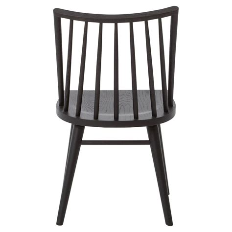 Simple Dining Chairs Lara Modern Classic Black Oak Simple Dining Chair Pair Kathy Kuo Home