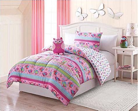 pink owl comforter pink owl love twin comforter sham and owl plush pillow 3