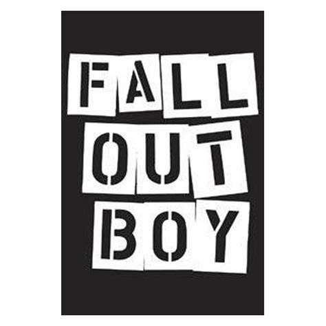 Red And Black Home Decor by Fall Out Boy Stencil Logo Magnet
