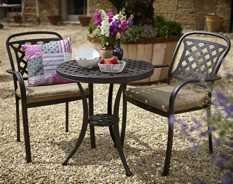 patio furniture for small spaces bistro set aluminium