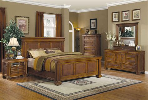 antique rustic bedroom furniture wood king  queen bedroom set  rich oak finish bedroom