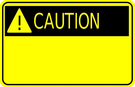 Caution Sign Clipart Clipart Panda Free Clipart Images Caution Sign Template