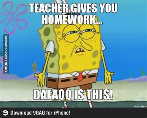 Spongebob Homework Meme - 35 very funny homework meme images and photos on the internet