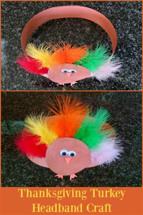printable turkey headband craft headband crafts crafts for toddlers and thanksgiving