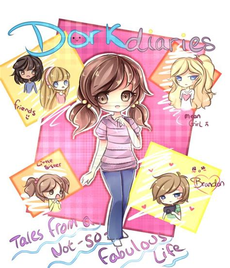 dork diaries hairstyles chibi art and d on pinterest
