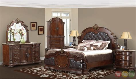 Traditional Cherry Bedroom Furniture Unity Cherry Traditional Cherry Upholstered Bedroom Set With Tops Rpcmo02