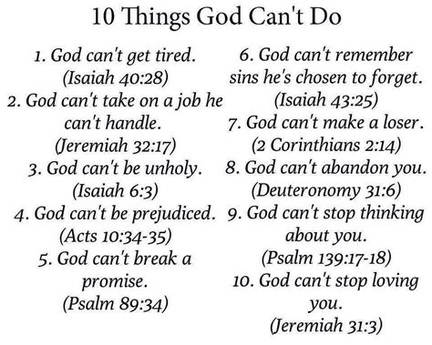 10 Things You Can Only Do In The Summer by 10 Things God Can T Do A Friend Of Jesus 2013