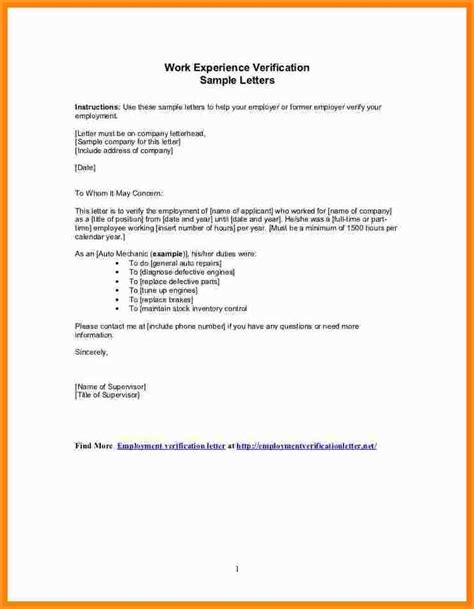 sle application letter for with experience experience letter for 28 images 7 work experience