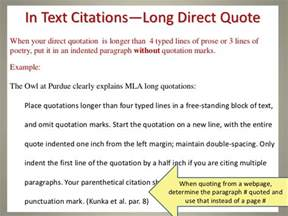 Quote Page Number In Essay by A Practical Guide To Mla Style