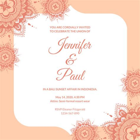 Canva Wedding Invitations