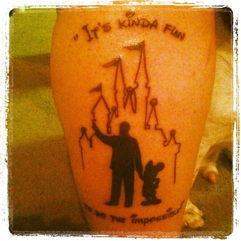 disney world tattoos my newest walt disney and mickey from the statue