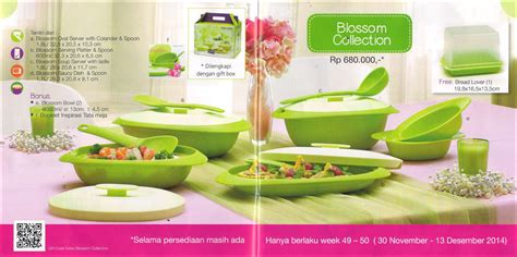 Katalog Tupperware Blossom blossom collection tupperware promo desember 2014