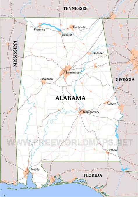 political map of alabama political maps of alabama