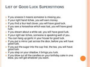 bad luck superstitions superstitions