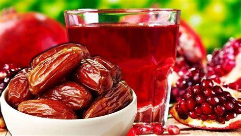 Kurma Coklat Lezat Halal Kurcok jus delima dan kurma kombinasi ideal pencegah serangan