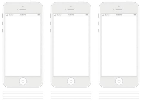 Paper Based Mediums For Designers Free Pdf Templates And Wireframes Ewebdesign Iphone Web Design Template